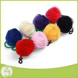 2014 cheap promotion cheap promotion rose nylon foldable shopping bag