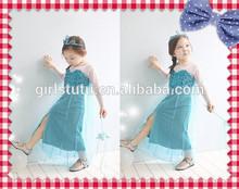 Boutique Baby Girls Party Wear Frozen Princess Elsa Costume Fashion Style Cheap Flower Girl Dress