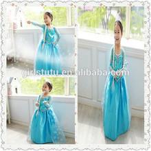 Latest Design Wholesale Baby Frock Boutique Frozen Elsa Princess Party Wear Dress