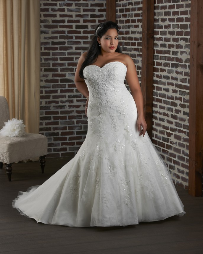Wedding dresses: dress plus size super wedding