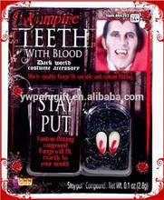 Bloody Tear- Stained Drop Blood Vampire Fangs
