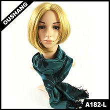 A182-L Lady's Lotus Printed Scarf Muffler Fashion Rayon Scarf