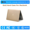 No Pattern Gold Color laptop hard plastic cases for macbook air 13.3