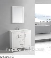 Bathroom Vanity Tona Floor Standing Cabinet crystal glass top wash basin