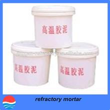 High temperature refractory mortar