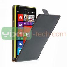 Black Magnetic Top Flip design for Nokia Lumia 1520 Leather+PC Case Cover