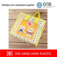 custom cheap shopping bag product of garment PP zipper shopping bags