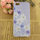 2014 hot sell for iPhone 5 5s laser carving case flower mobile phone case