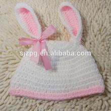 Fan hat the little rabbit 2014 popular Animal hat Small cute pink crochet hat