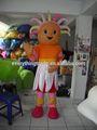 2014 adultos halloween upsy daisy muñeca de niña de la mascota de dibujos animados traje traje de fiesta de lujo de cosplay traje de vestir