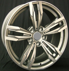 SILVER car alloy wheel for any car M6