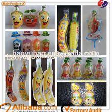 Special banana bag shaped plastic water/juice bags
