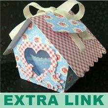 Blue Mini Bird Packaging Box For Cupcake Packaging