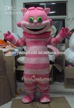 2014 Adult Halloween alice in wonderland cheshire cat Cartoon Mascot Costume Party Cosplay Fancy Dress Costume