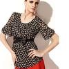 Design Lady High Quality polka dot Blouse