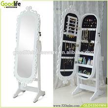 Wooden over the door jewelry cabinet mirror bedroom furniture