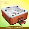 Wholesale massage 5 person outdoor spa bathtub with LED light