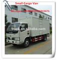 Dongfeng minivans con camioneta de carga de cuerpo de la caja, furgones de alimentos