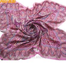 Large size lady beautiful paisley square hot jilbab abaya hijab muslim fashion lady scarf