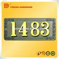 Venta caliente de la aleación de zinc número de metal para puertas de yd-489