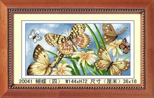 2014 FASHION FLOWER OIL PAINTING HANDMADE DECORATION FREE FLYING BUTTERFLIES