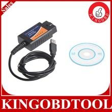 Hot Sales!!!OBD/OBDII Scanner ELM 327 car diagnostic interface scan tool ELM327 USB with best price