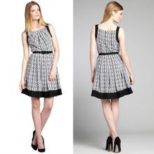 2015 Fashion Sleeveless Print Casual Summer Dress manufacture in Guangzhou China