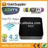 Hot Selling AML8726 Dual Core MX Android Smart TV Box With XBMC azbox bravissimo