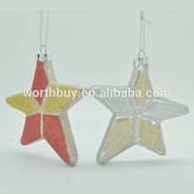 Vintage decorated star christmas tree ornament