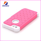 Grid Diamond Case for iphone 5 PC+Silicone Phone Case