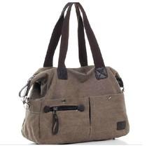 2014 Summer Designer unisex canvas handbag with shoulder stripe wholesale China OEM
