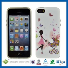 Wholesale function color custom ultra thin 0.5mm tpu phone case for iphone5