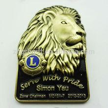 high quality custom lion club lapel pins