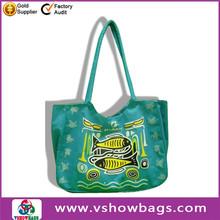 durable bulk cheap clear pvc beach tote bags flower canvas tote beach bag
