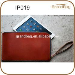 zipper leather sleeve for ipad mini / kindle fire