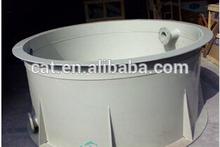 Round plastic fish tank for RAS