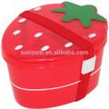 Morango bento caixa, morango de plástico lunch box, bento caixa de fabricação