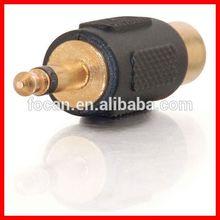 High quality 3.5mm mono plug to RCA jack adapter adaptor