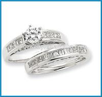 Fashion 14k white gold semi-mount ring diamond engagement ring
