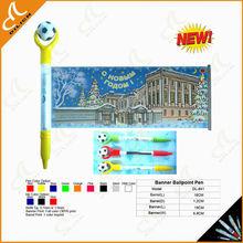 2015 New design banner football pen flyer pen flag pen