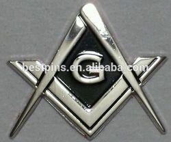 metal chrome auto masonic car emblem