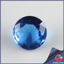 China Bulk Loose Blue Glass Round Stones
