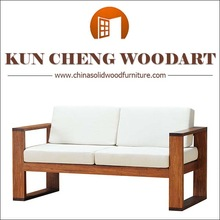 American modern style solid wooden sofa/ classic style luxury hand carved solid wood sofa designs from factory