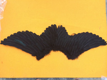 100*30cm black large angel wing