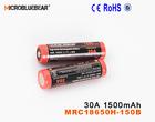 IMR 18650 30A 3.7V 1500 mah electronic cigarette 510 batteries