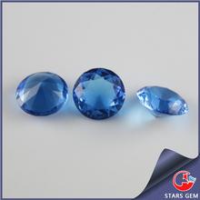 Bulk Production Loose Blue Glass Round Stones