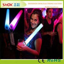 Custom led foam glow sticks flashing led light rods