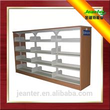 MDF Side Panel Steel Library Book Rack Shelving,Metal Bookshelf,Double/Single Bookshelf Backdrop