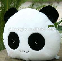 lovely plush panda design cushion with CE testing