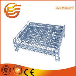 Welded galvanized folding metal mesh dog cage